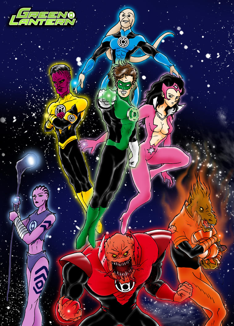 Lantern Corps New Guardians by Azraeuz on DeviantArt