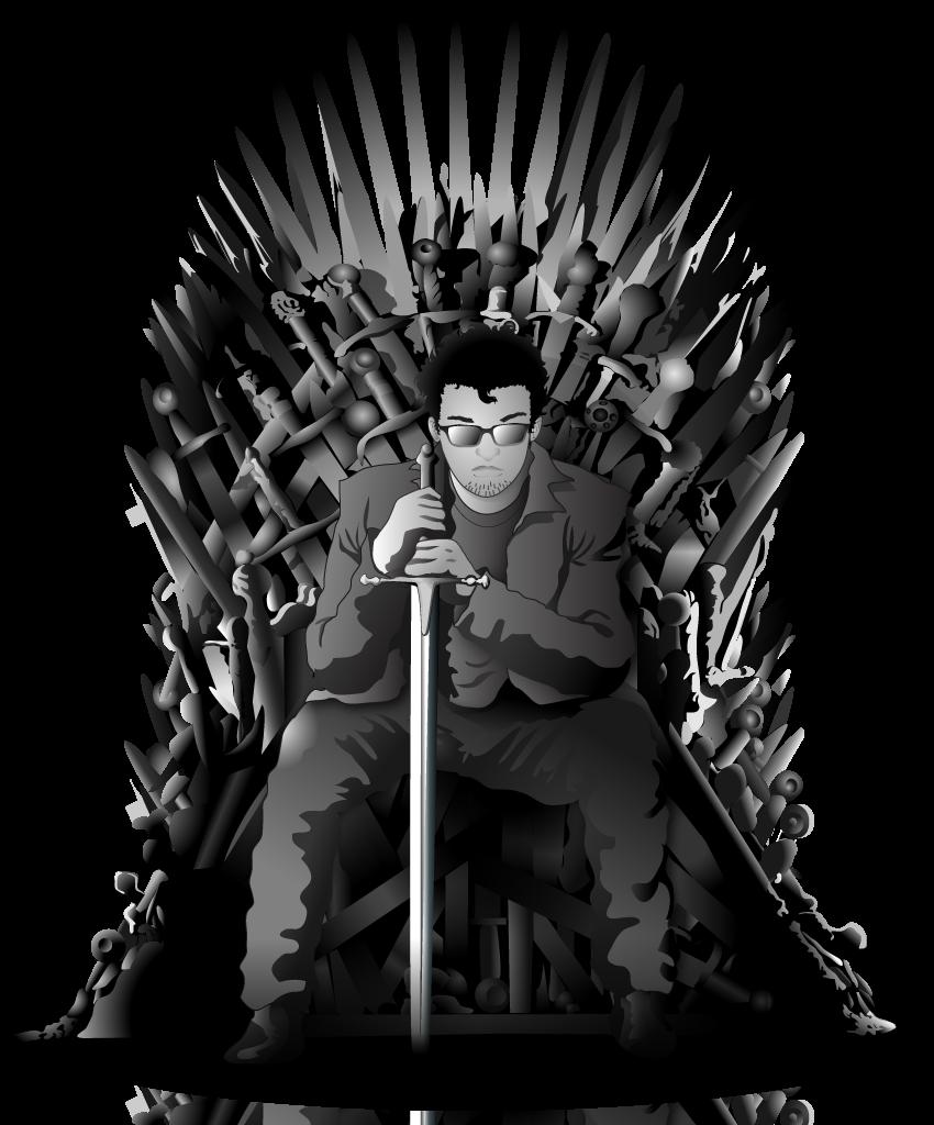 Iron throne portrait by azraeuz on deviantart for Iron throne painting