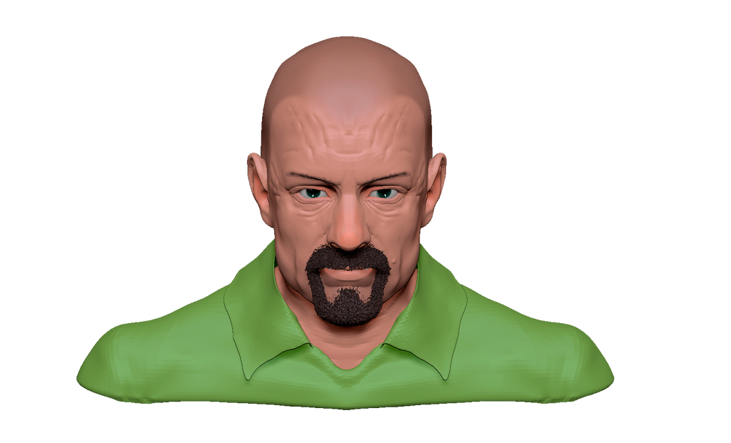 Walter White, Zbrush front by Azraeuz