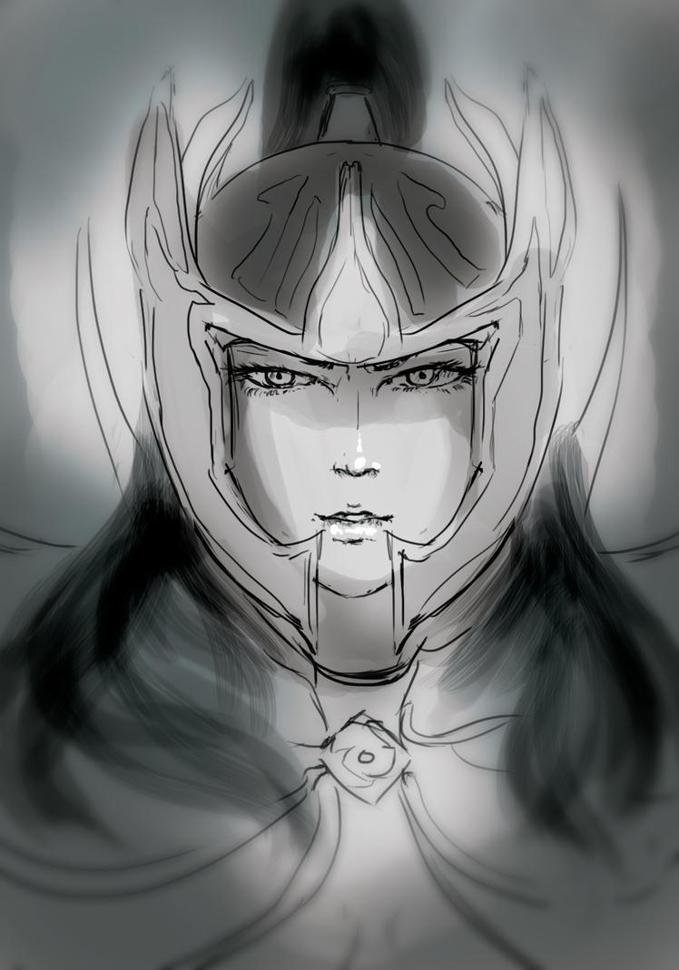 Phantom Assassin sketch by ia-sen