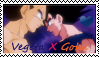 Vegeta X Goku Stamp by SkunkyToonTastic