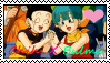 Bulma X ChiChi Stamp by SkunkyNoid