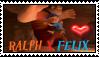 WIR:Ralph X Felix Stamp by SkunkyNoid