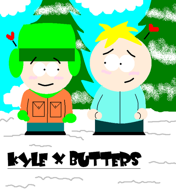 South park kyle x butters by skunkynoid on deviantart - South park wallpaper butters ...