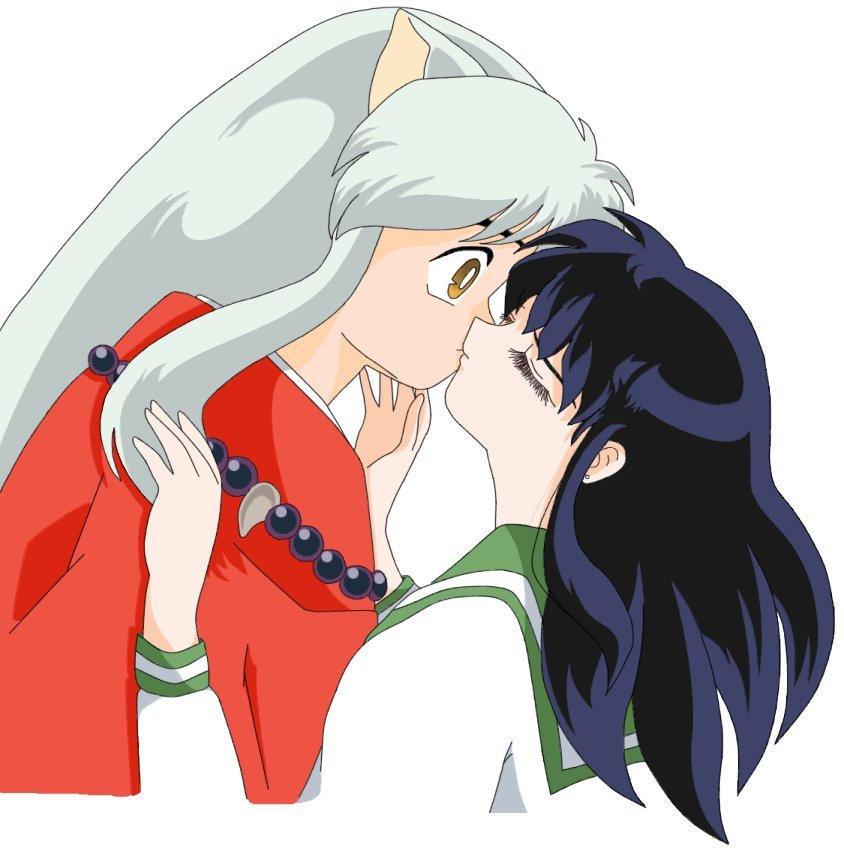 Inuyasha And Kagome Kissing By Pokahydee On DeviantArt
