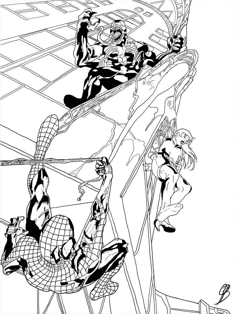 Spider-Man vs. Venom by LillithsBernard