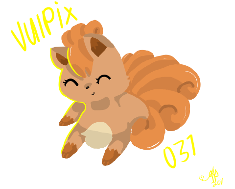 Vulpix 037 by MyArtMyWay
