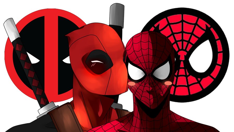 Deadpool X Spiderman By Keiko Draws
