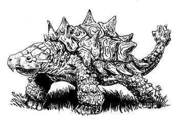 Ankylosaur by doctor-morbius