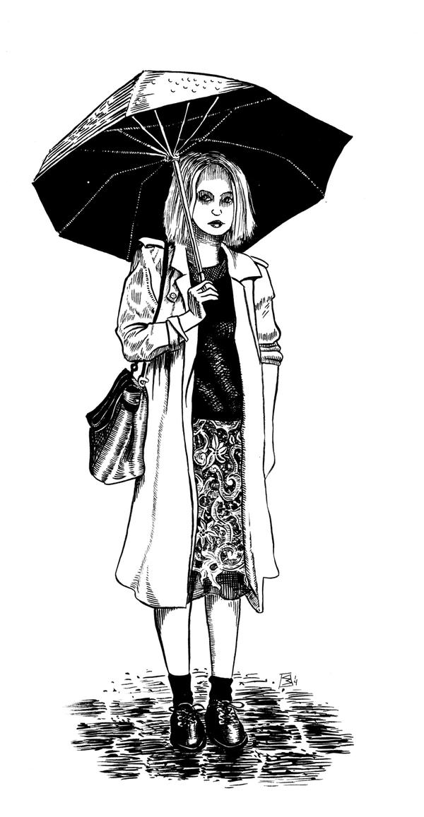 Girl with Umbrella by doctor-morbius