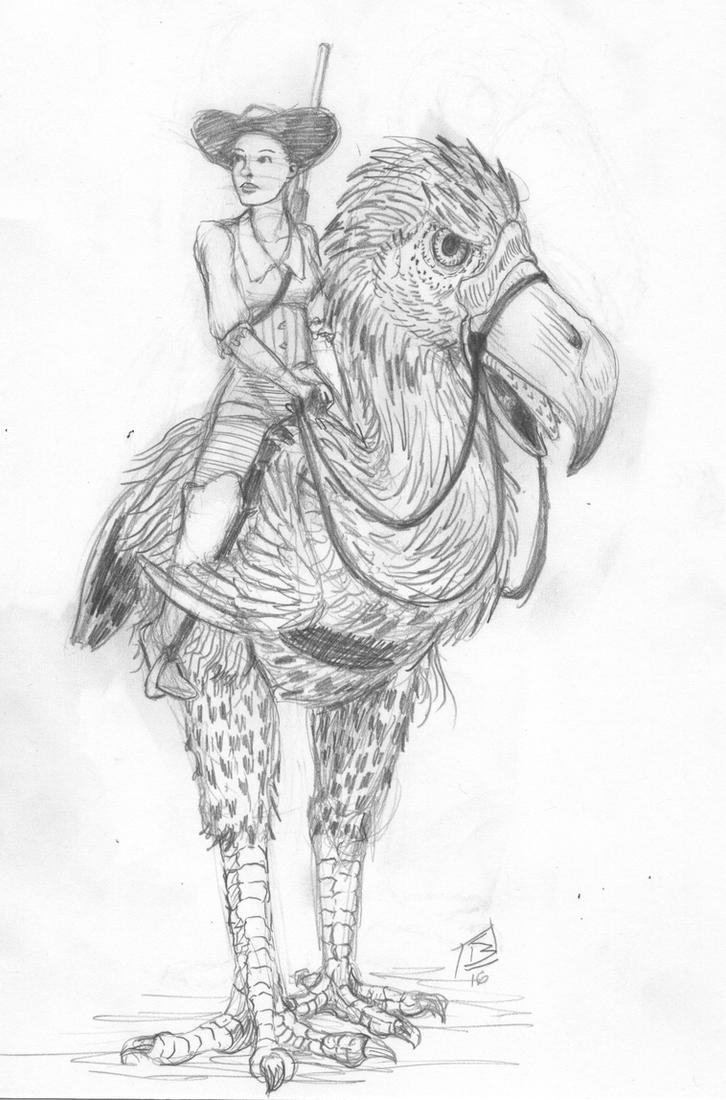 Terror Bird Rider by doctor-morbius