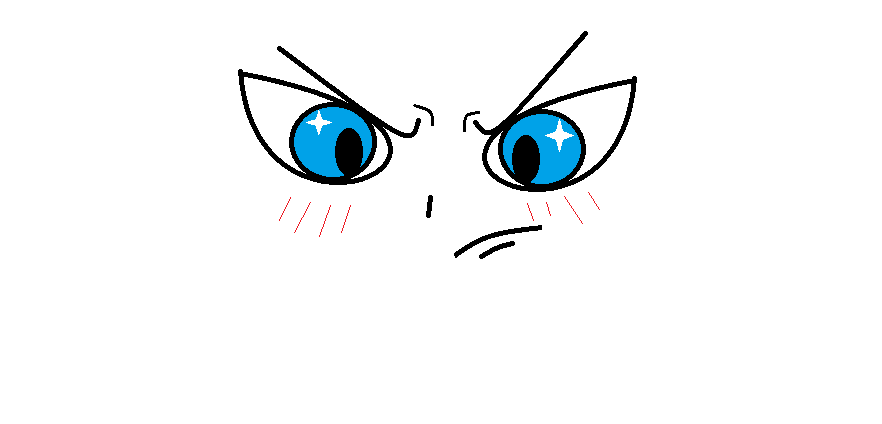 how to draw angry anime eyes