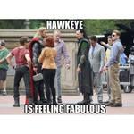 Hawkeye feeling fabulous