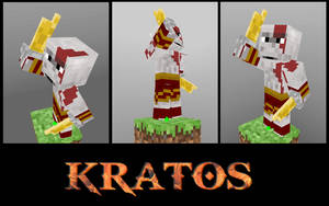 Kratos In Minecraft by GhosT-Player