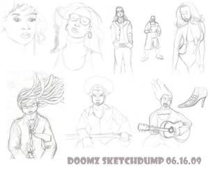 Doomz Sketchdump 06.16.09