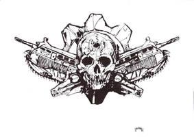 Gears's skull by djnnayt