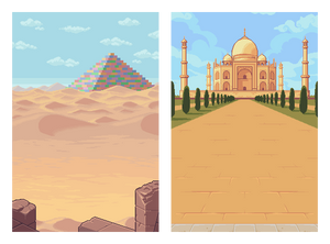 Backgrounds for a mobile game