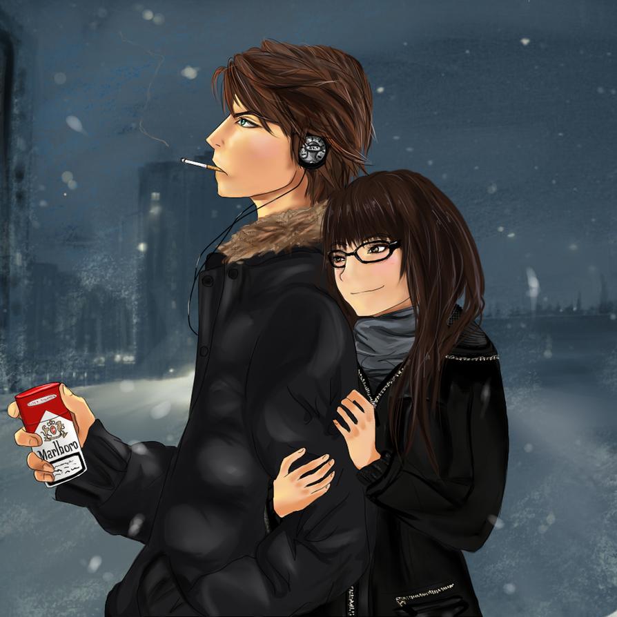 Love in winter by vodichka-san