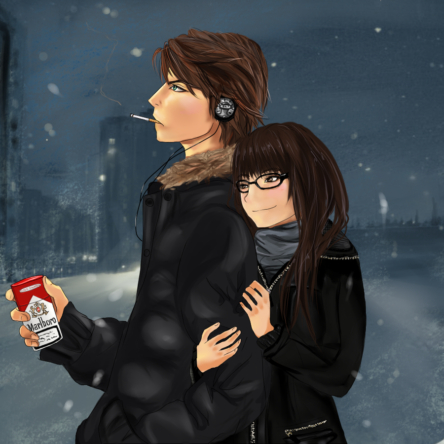 Love in winter by vodichka-san