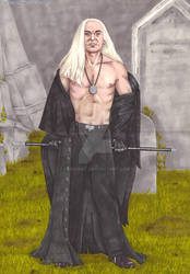 Lucius In the Graveyard by SephiArt