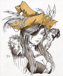 2018.04.22 Pirate Witch Tribute to Clivenzu by Tevet-Ha-Konen