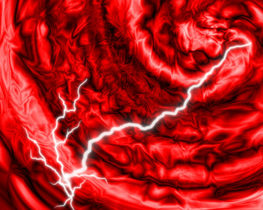 Red Lightning Swirl Wallpaper By Mephonix