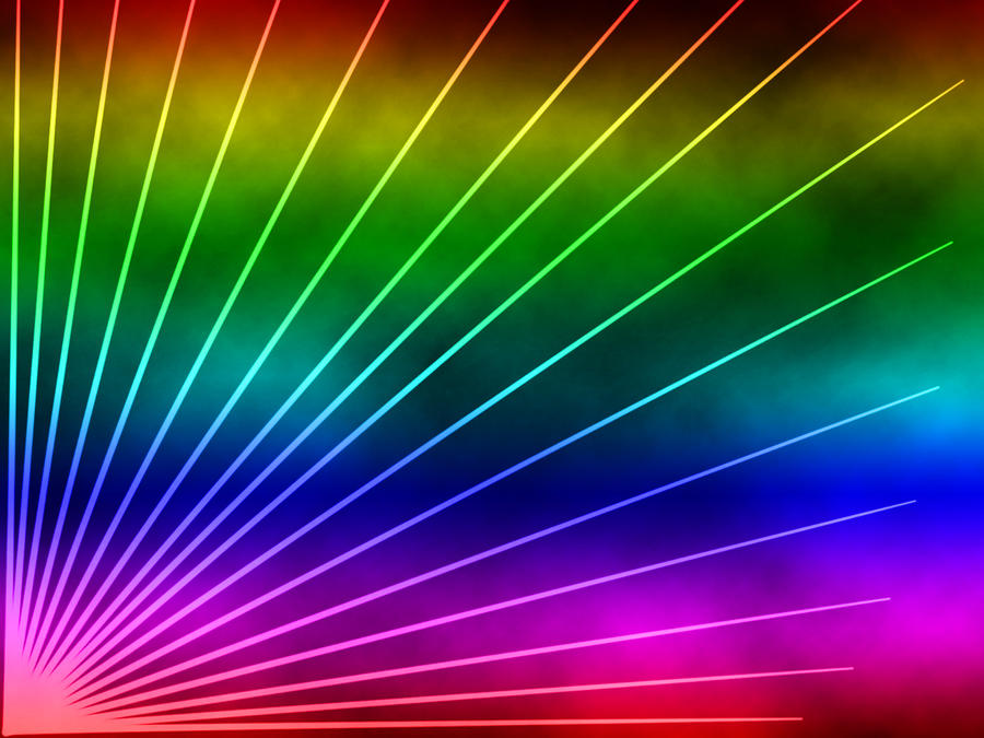 Rave Lights and Clouds rainbow Wallpaper by Mephonix on ...