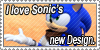 Sonic's New Design Stamp by Mephonix