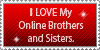 Online Brothers and Sisters Love Stamp by Mephonix