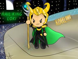 Hail King Loki by Mephonix