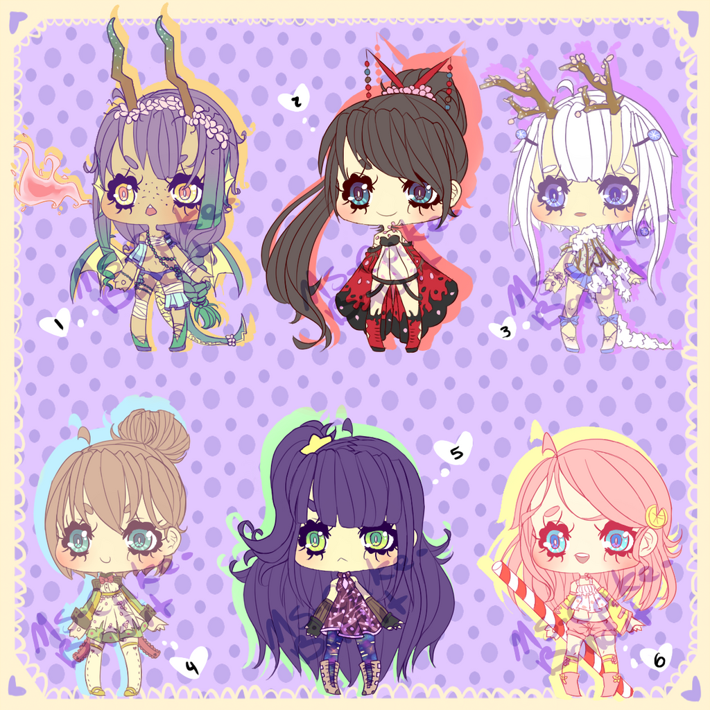 ::Adopts:: Cherry Blossom Set CLOSED by Ms-Cake-Bandit