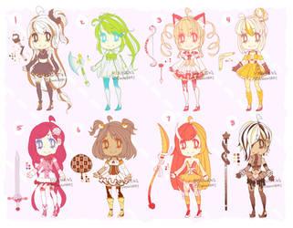 ::Adopts:: Magical Dessert Girls CLOSED by K0USEKI