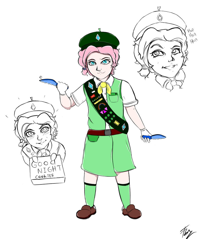 paladins   girl scout cookie maeve fan skin by