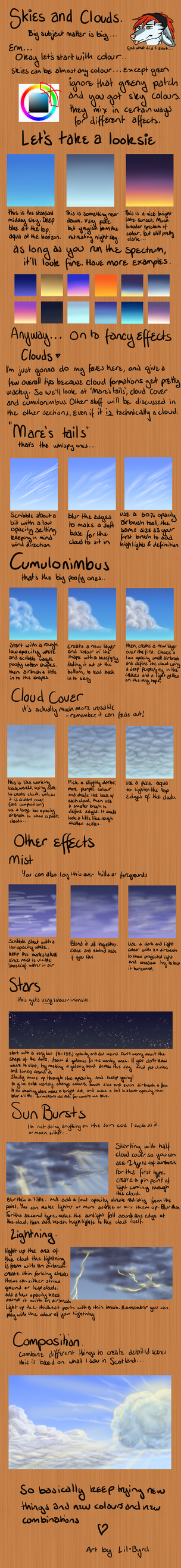 Skies Tutorial by ofcowardiceandkings