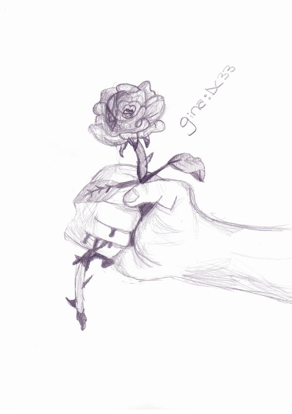 Bleeding hand holding rose images for Hand holding a rose drawing