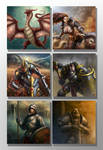 Fantasy Characters images set