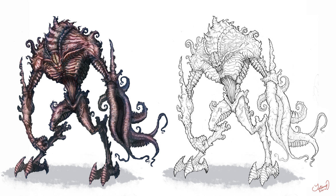 Alien Monster concept design by ARTOFJUSTAMAN