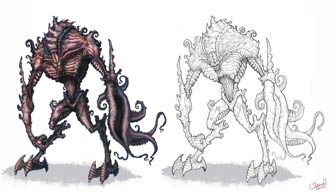 Alien Monster concept design by ARTOFJUSTAMAN