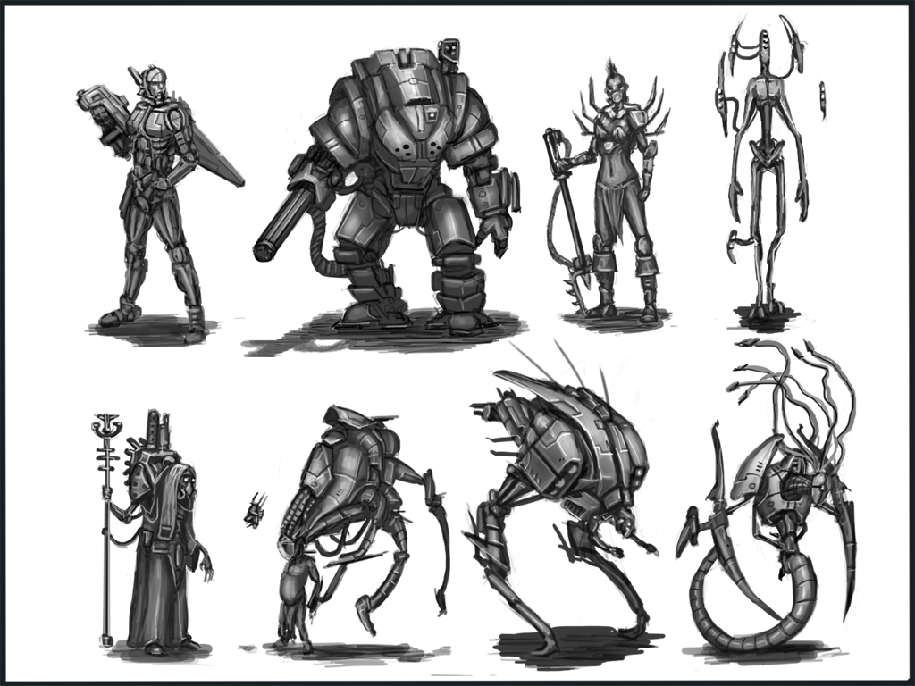 Sci Fi Characters thumb 2 by ARTOFJUSTAMAN