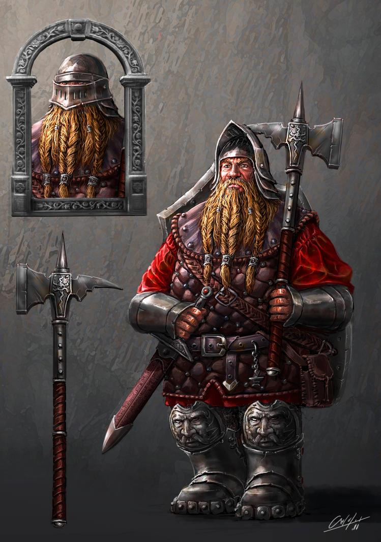 Dwarf infantery soldier by ARTOFJUSTAMAN