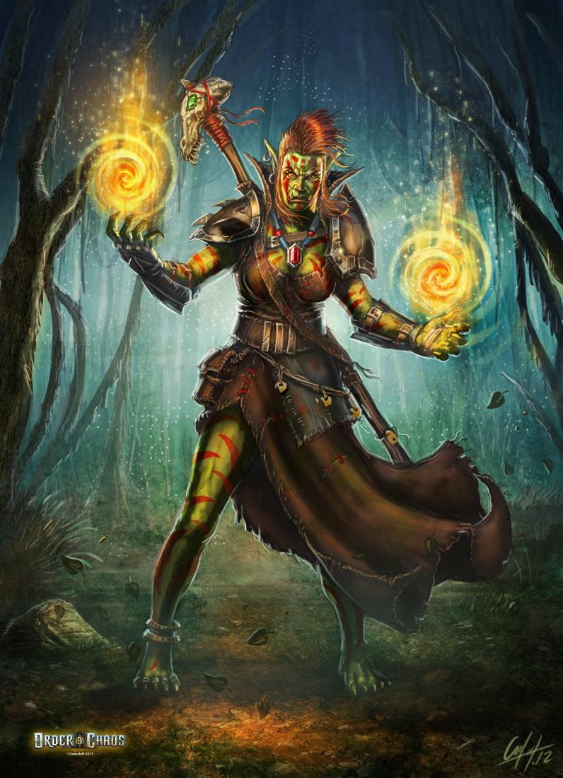 Ork Mage Hero by ARTOFJUSTAMAN