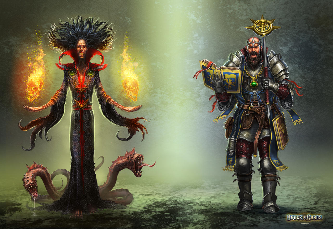 Order and Chaos Duels heroes by ARTOFJUSTAMAN