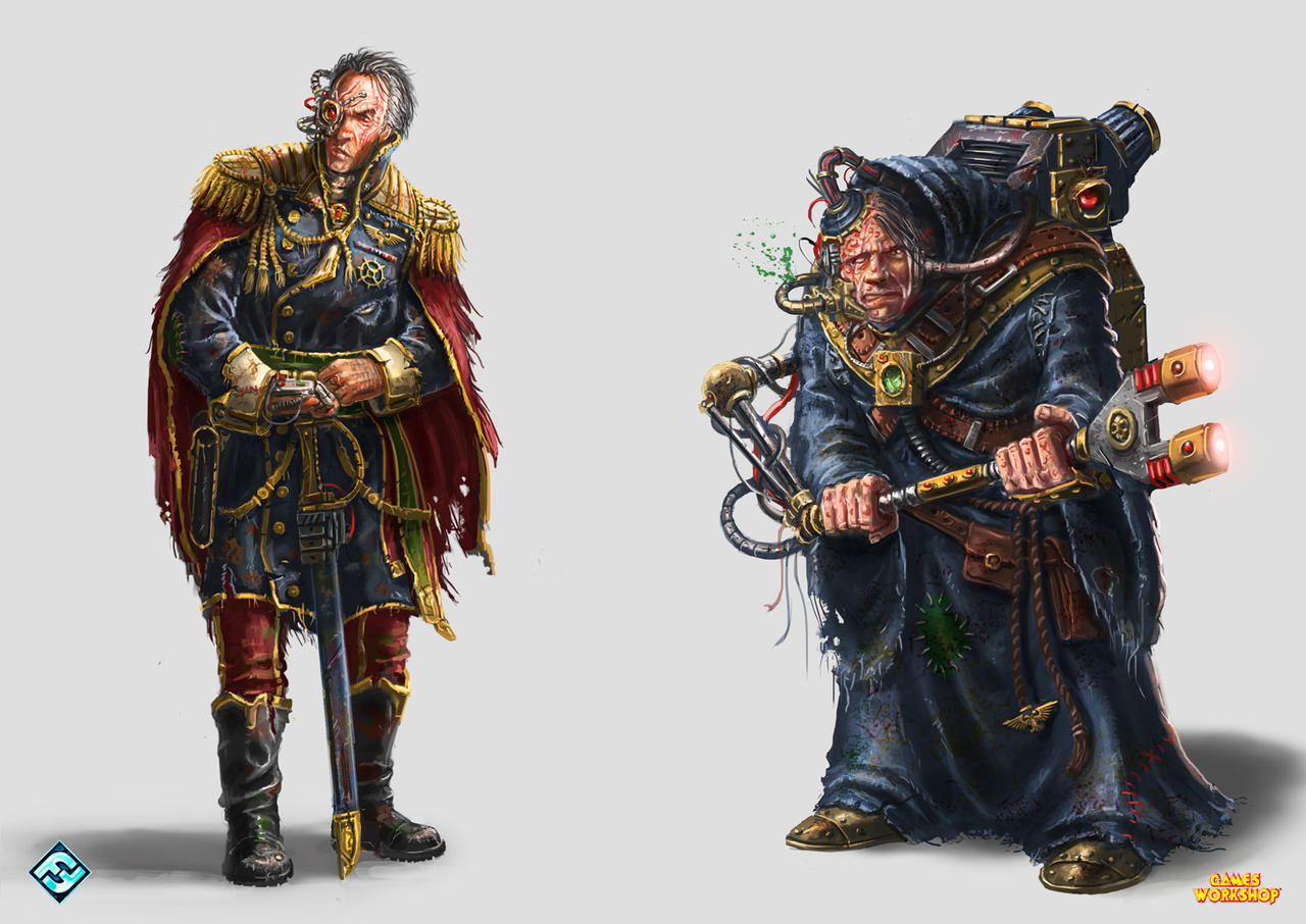 W40k Rogue Trader Characters by ARTOFJUSTAMAN