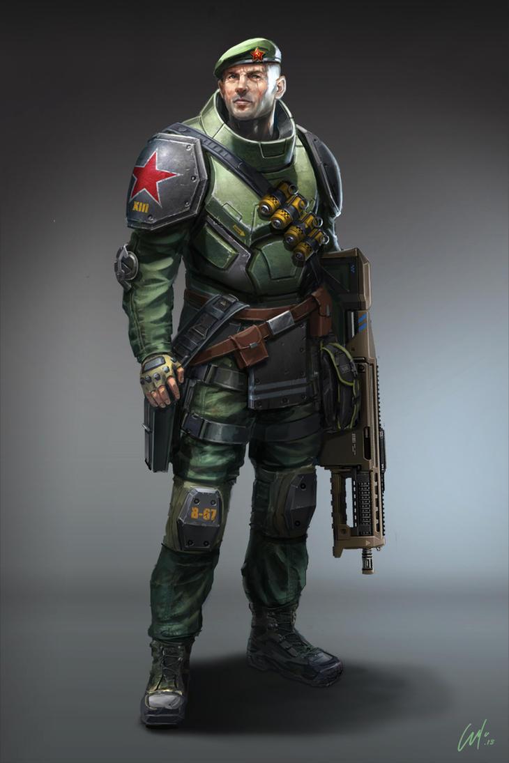 Red Soldier by ARTOFJUSTAMAN