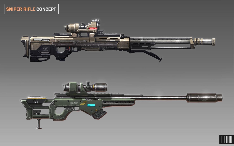 sniper rifle concept by artofjustaman on deviantart