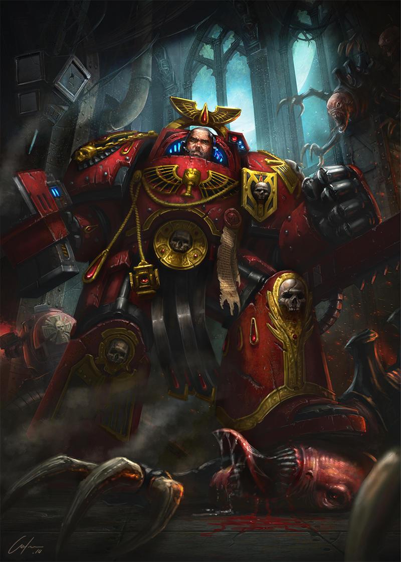 Warhammer 40k death company wallpaper - Blood Angel Veteran By Artofjustaman