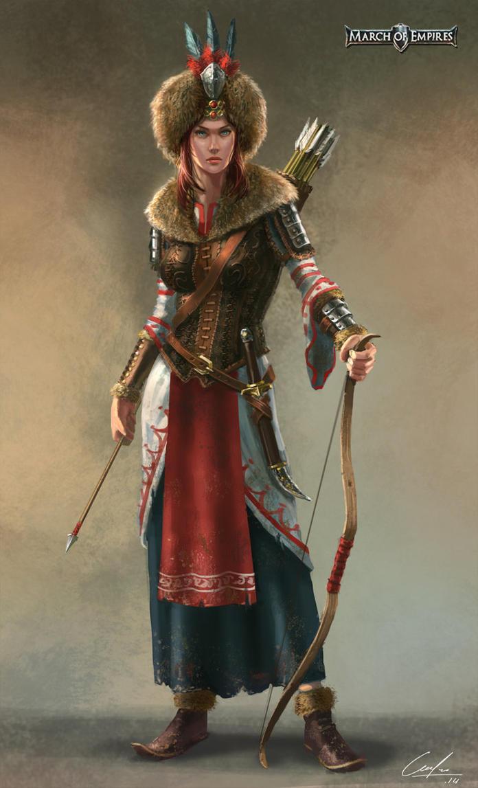 Russian archer hero by ARTOFJUSTAMAN