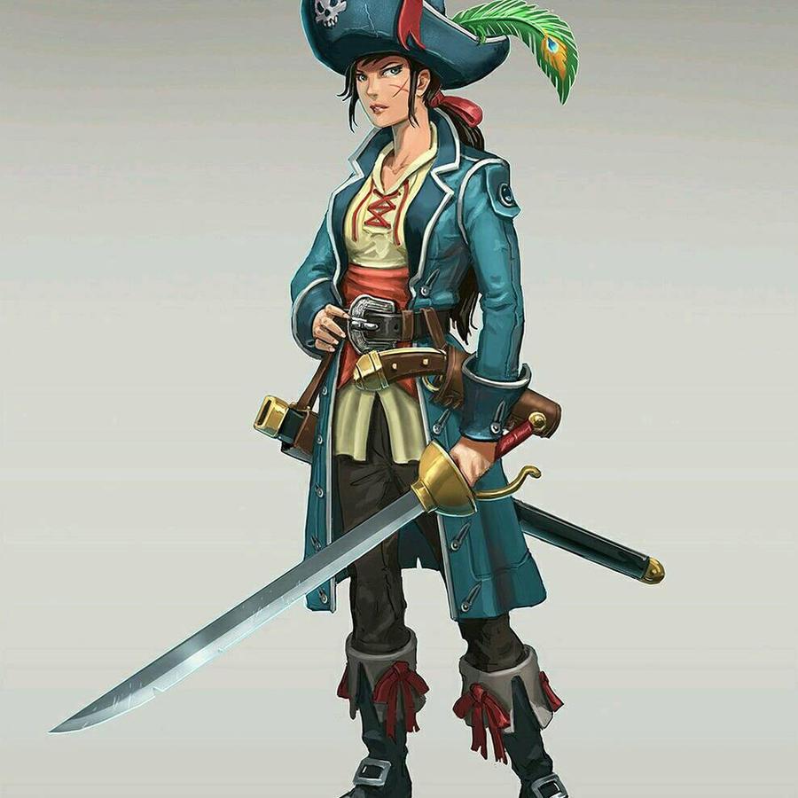 Female pirate drawing - photo#48