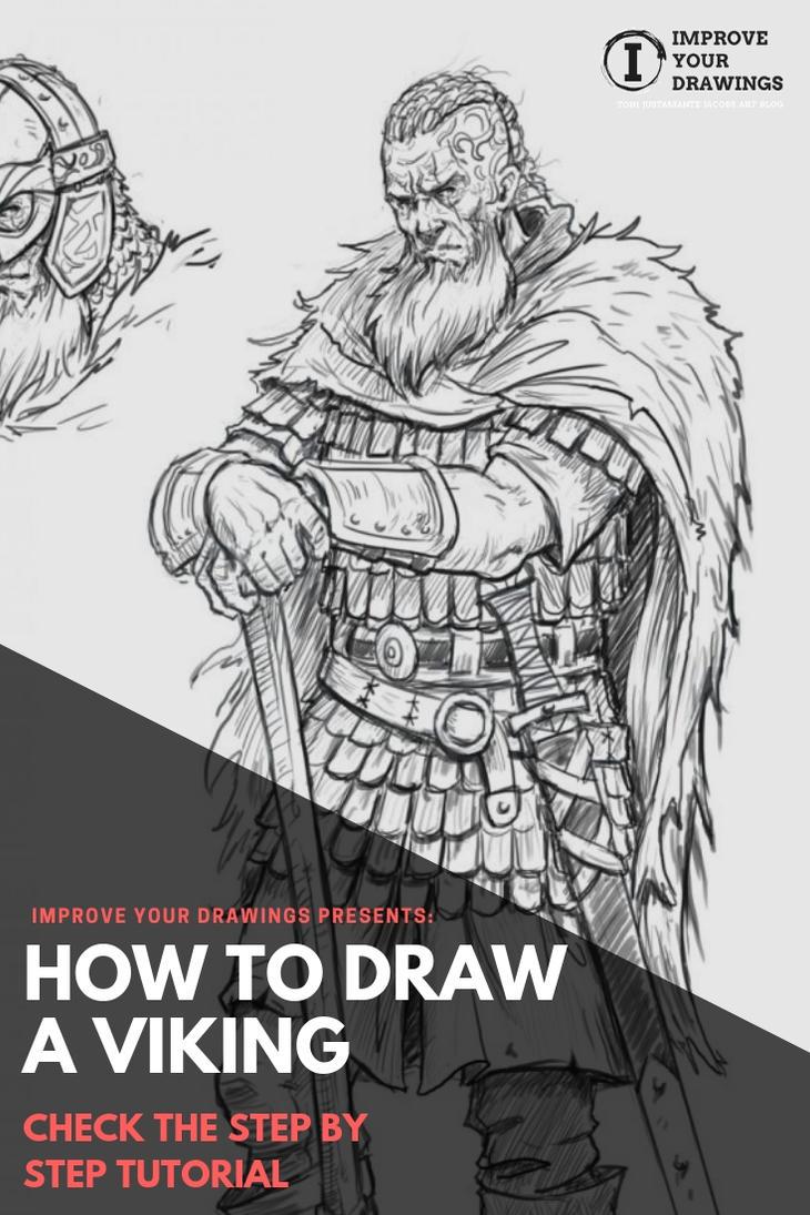 How to Draw a Viking. Step by Step Tutorial by ARTOFJUSTAMAN