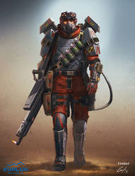 Flamethrower Soldier Concept by ARTOFJUSTAMAN